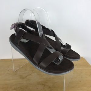 Teva leather/ rubber sandals size 7